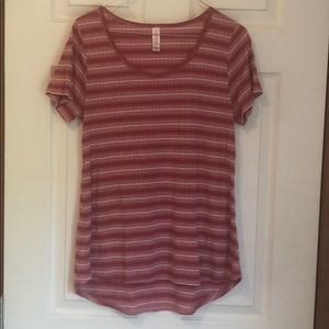 Pink stripped tee
